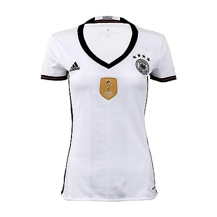 Amazon.com   adidas Germany Home Womens Jersey  White Black  (XS ... 73dac7408