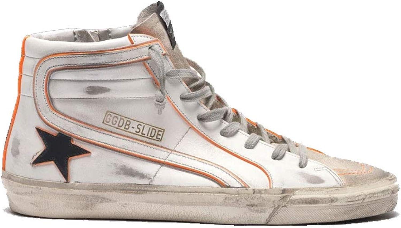 Golden Goose Men's Slide White Leather