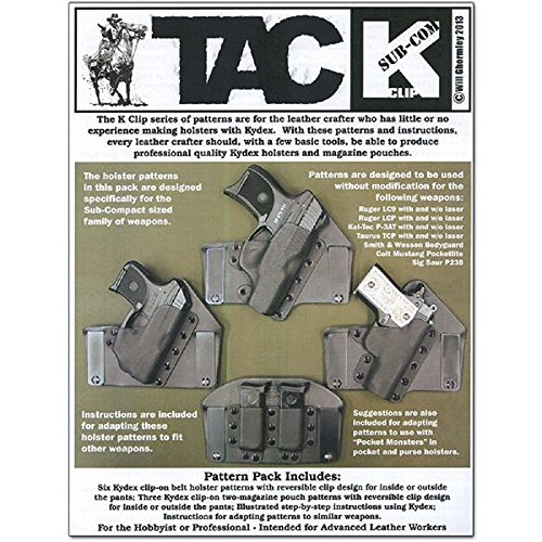 Tandy Leather TAC K-Sub-Compact Clip Pattern Pack