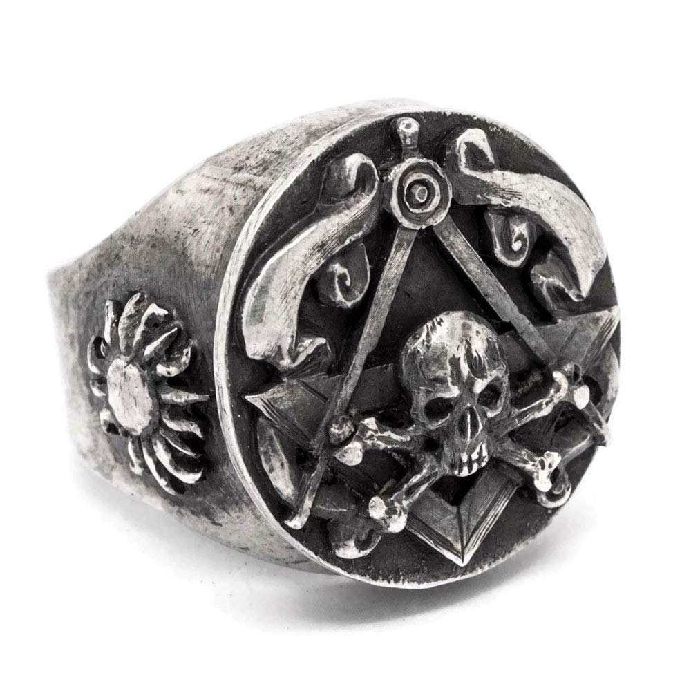 1ff66583ddb88 Amazon.com: SIGNOART Oxidized 925 Sterling Silver Skull and Bones ...
