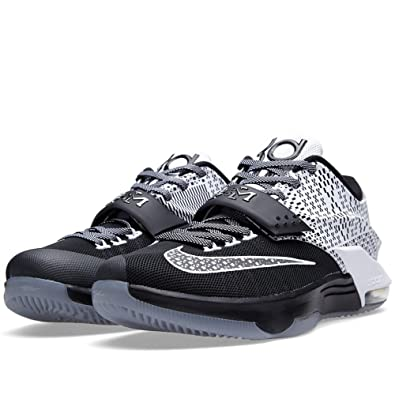 Nike Mens KD VII BHM Black/White-Wolf Grey Synthetic Size 9.5 Basketball  Shoes