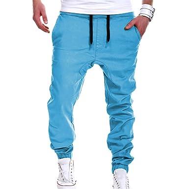 Hombre Moda Pantalones Color Sólido Harén Holgado Pantalón de ...