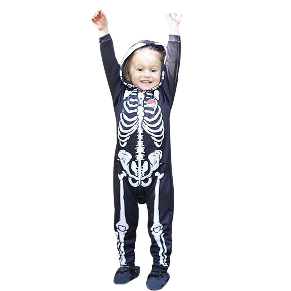 Boys Rompers, SHOBDW Toddler Infant Baby Girls Halloween Party Cosplay Hooded Long Sleeve Jumpsuit Costume Outfits SHOBDW-030