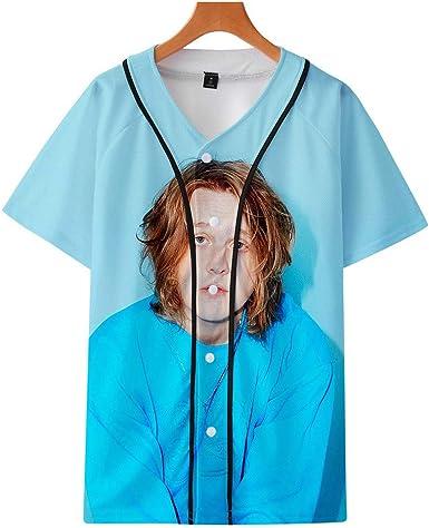 QIUFEN Cantante Lewis Capaldi 3D Impreso Manga Corta Uniforme de Béisbol Hombres y Mujeres Camiseta: Amazon.es: Ropa y accesorios