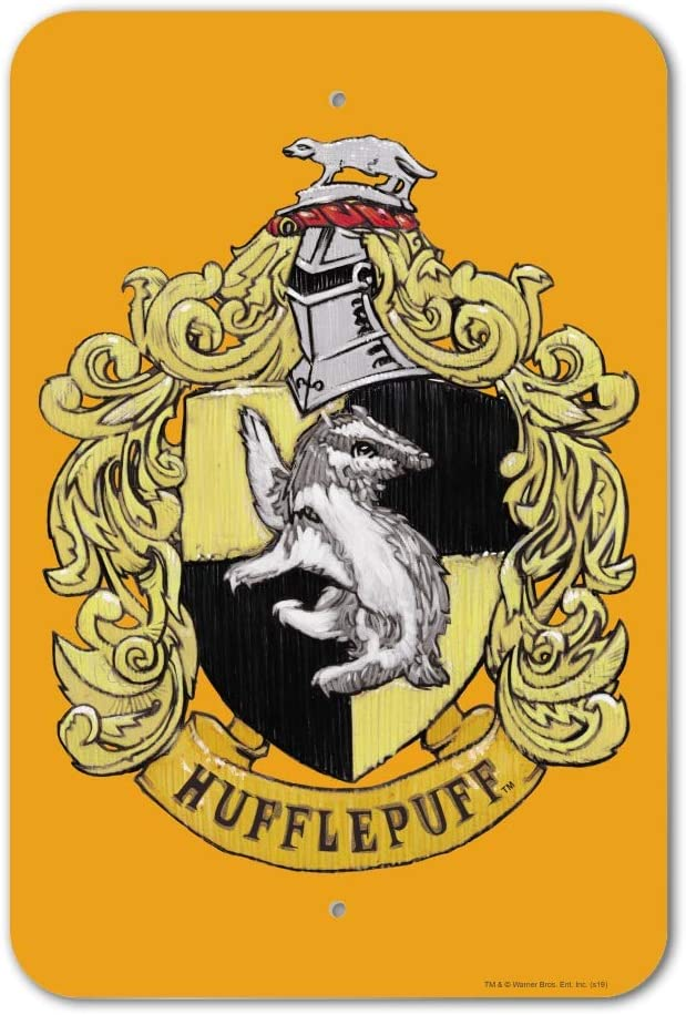 GRAPHICS & MORE Harry Potter Hufflepuff Painted Crest Home Business Office Sign