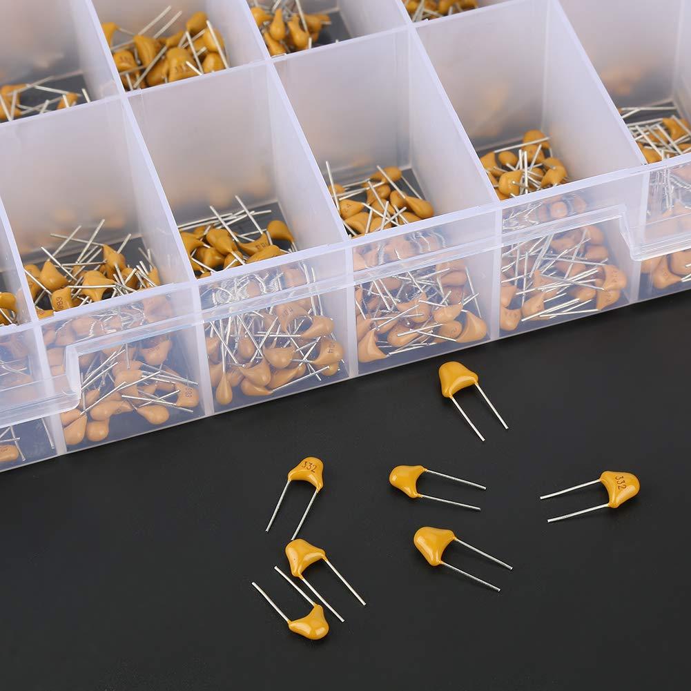 kit assortimento ceramica monolitica da 10pF-10uF Kit confezione ceramica condensatore da 1200 pezzi