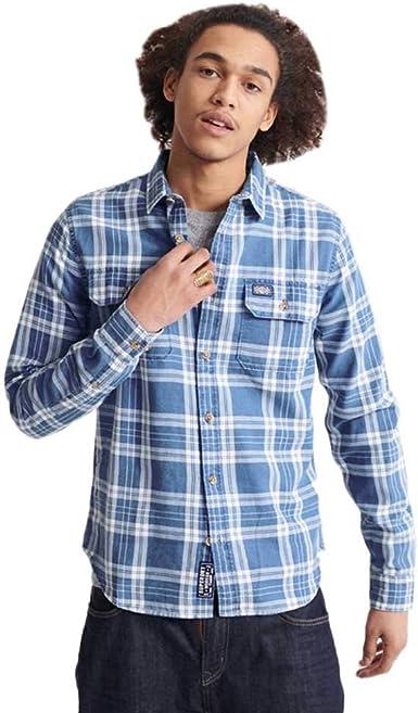 Superdry Merchant Milled Lite L/S Shirt Camisa para Hombre: Amazon.es: Ropa y accesorios