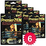 PremierZen Black 5000 6-Pills Male Enhancement Pill - Fast US Shipping