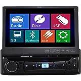 TUVVA KSD7843B 1-DIN Autoradio multimédia DVD / CD / USB / AUX-IN / MP4 / MP3 Radio Bluetooth Écran LCD tactile 18cm avec télécommande