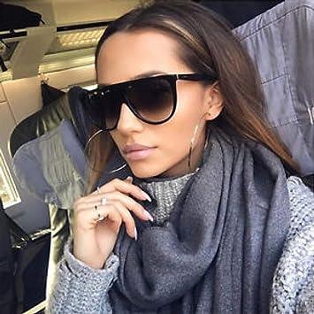 LLLM Gafas de sol Kim Kardashian Gafas de Sol Mujer Vintage ...