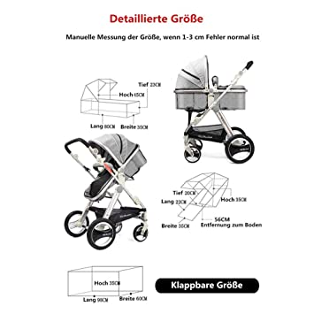 Amazon.com: Cochecito de bebé con diseño de paisaje alto ...