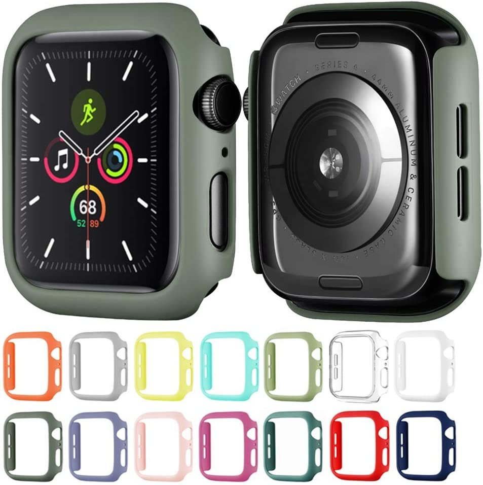 Winso Matte Hard PC Case Compatible with Apple Watch Series SE 6/5/4 Lightweight Thin Protective Bumper Cover for iWatch Khaki 44mm