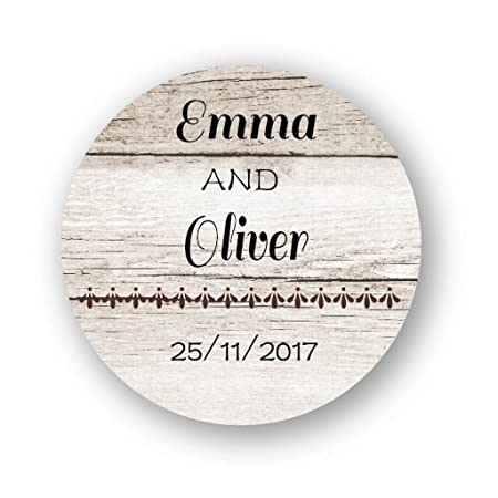 Ekunstreet 48x personalised wedding favour stickers40mm round stickers invitation envelopes seals