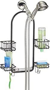 mDesign Estantería de ducha para colgar – Prácticos estantes de ...