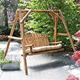Coral Coast Rustic Oak Log Curved Back Porch Swing and A-Frame Set Review