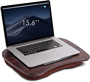 Homcosan Memory Foam Lap Desk for Laptop Cushion Pad Oversize Portable Laptops Travel Desk with Mouse Pad, 2 Notes, 2 Coasters Included, for Home Office Stand, Books, Fits Computers Up to 17 Inch