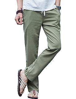 CRYYU Men Summer Drawstring Regular Fit Washed Distressed Casual Denim Jeans Pants