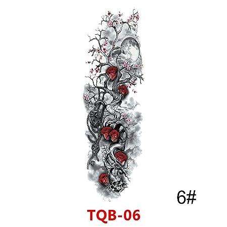 tzxdbh 3pcs Impermeable Tatuaje Temporal Etiqueta Brazo Lleno ...
