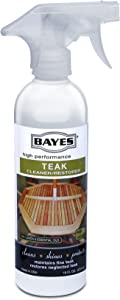 Bayes High Performance Teak Cleaner & Restorer - Cleans, Shines, and Protects - Maintains Fine Teak and Restores Neglected Teak - 16 oz, 2 Pack