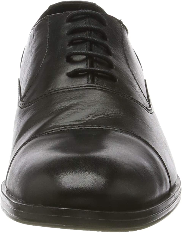 JACK & JONES Herren Jfwdonald Leather Anthracite Noos Derbys