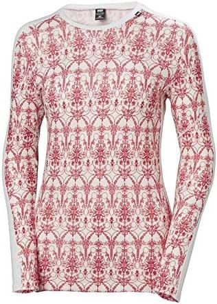 Helly Hansen Women's HH LIFA Merino Wool Graphic Print 2-Layer Crewneck Thermal Baselayer Top