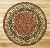 Earth Rugs 16-024 Round Area Rug, 5.75′, Olive/Burgundy/Gray