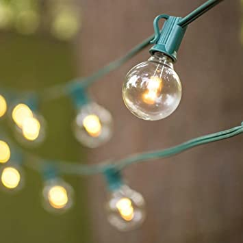 buy magideal 25ft outdoor indoor globe patio christmas string lights g40 25 bulb eu plug online at low prices in india amazonin