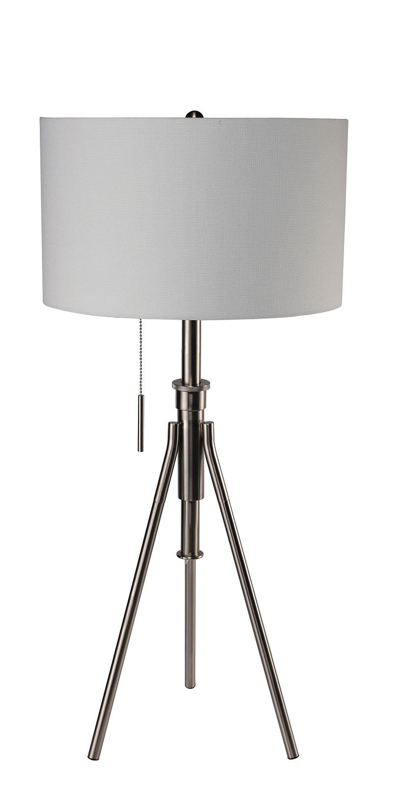 Furniture of America L731171T-SV Zaya Extendable Silver Table Lamp Miscellaneous-Others