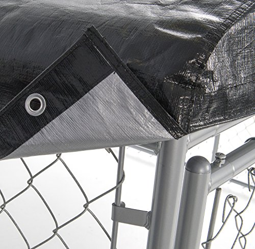 Weatherguard Dog Kennel Cover Large All Season Dog Run Cover & Roof - Perfect Fit for Lucky Dog 5ft. X 15ft. Outdoor Cages and Pens (5ft. X 15ft) by Weatherguard (Image #2)