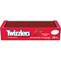TWIZZLERS Licorice Candy, Strawberry, 30 Count