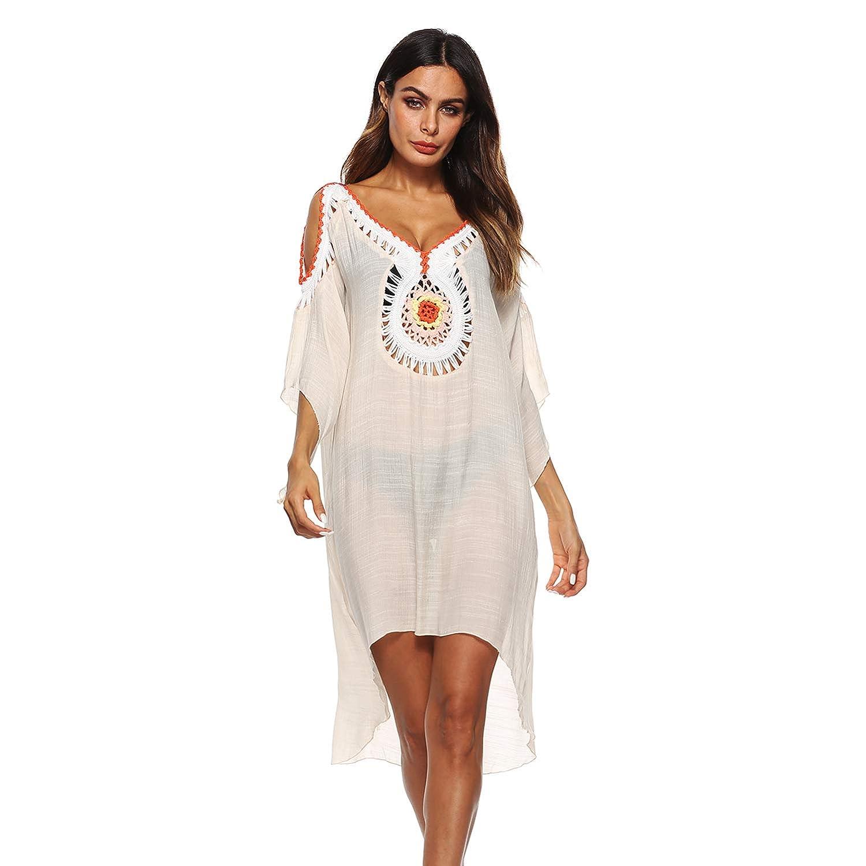 Amazon.com: Vestido de ganchillo floral para mujer con ...