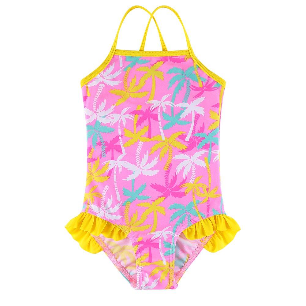 BAOHULU Toddler & Big Girls One Piece Bathing Swimsuit Thin Strap