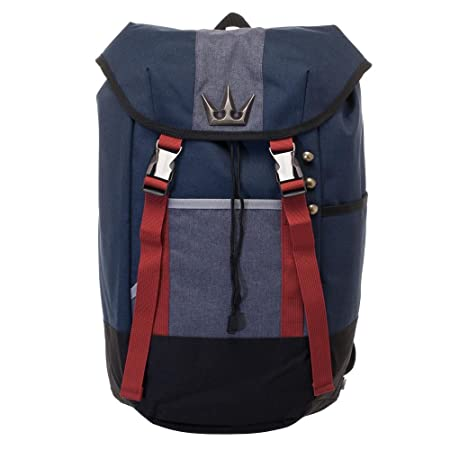 Kingdom Hearts Backpack – Navy Blue, Red, and Grey Gamer Backpack