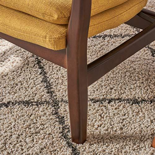 Christopher Knight Home 304780 Ventura Mid Century Modern Fabric Club Chair, Mustard - 7