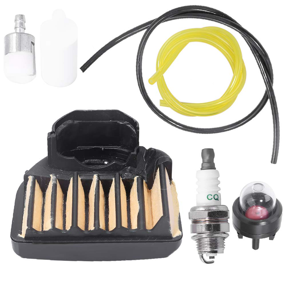 537255701 Air Filter Fuel Line Filter for Husqvarna 455E 455 Rancher 460 461 Gas Chainsaw with Spark Plug Primer Bulb Tune Up Kit by Anxingo
