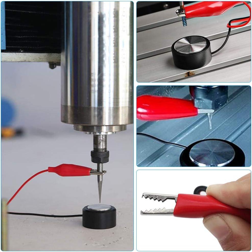 Gobesty Placa t/áctil CNC Z-Axis Setting Plate Probe Block Probe Probe Fresado CNC M/áquina de grabado Auto-Check Instrumento de ajuste de sonda para Mach3 y otros sistemas de m/áquinas de grabado
