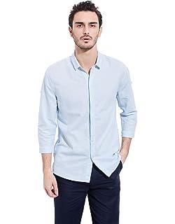 22bc439eba6 UAISI Men s Casual Plus Size Long Sleeve Button Down Summer Linen Shirts