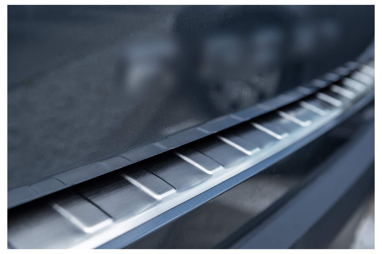 tuning-art BL937 Protection de seuil de Coffre de Chargement en Acier Inoxydable avec Profil 3D et Bord Arrondi Couleur:Argent
