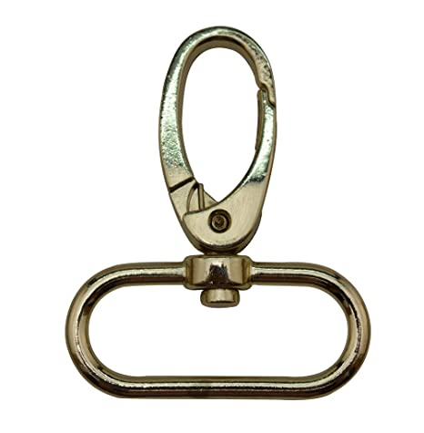 Generic ..Metal Color Golden Lobster Clasps 0.5 Inches Inside Diameter Oval Swivel Trigger Clips Hooks for Purse Bag Straps Pack of 20