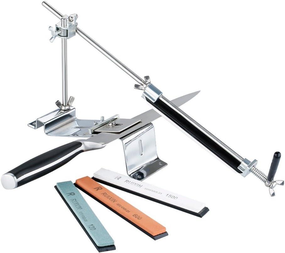 Afilador de cuchillos profesional para cocina, sistema de ángulo fijo con 4 piedras de afilar
