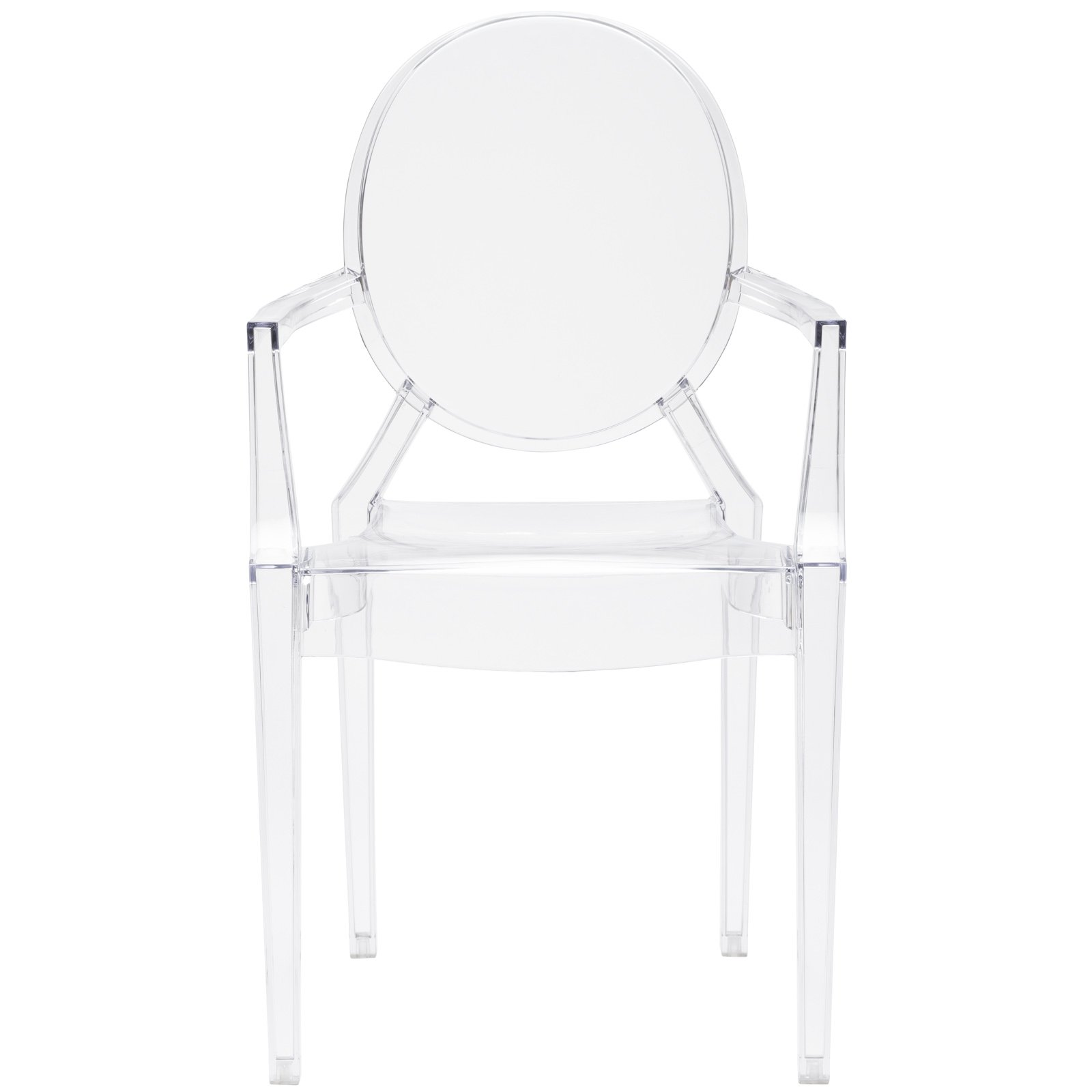 Poly and Bark Burton Arm Chair in Clear (Set of 4) by POLY & BARK (Image #3)
