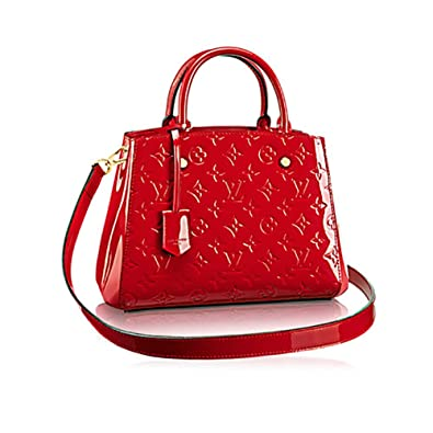 Authentic Louis Vuitton Montaigne BB Monogram Vernis Leather Handbag  Article M50170 Made in France  Handbags  Amazon.com 672f8d06236f3