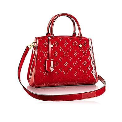 3d78c26ab067 Authentic Louis Vuitton Montaigne BB Monogram Vernis Leather Handbag  Article M50170 Made in France  Handbags  Amazon.com