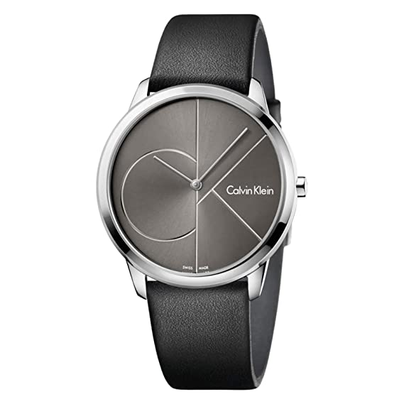 Calvin Klein Reloj Analogico para Hombre de Cuarzo con Correa en Cuero K3M211C3: Amazon.es: Relojes