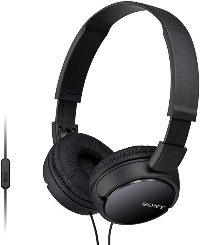 Amazon.com: Sony MDR-ZX110AP Extra Bass Wired Headphones with Mic, Smartphone Headset for iPhone & Android with in-Line Remote & Microphone, Neodymium Magnets & 30mm Drivers, Black (Renewed): Electronics
