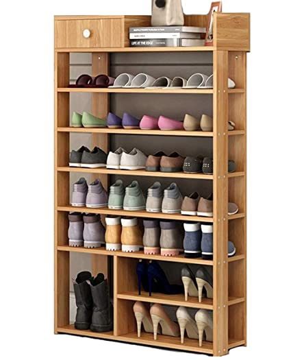 How To Make A Wooden Shoe Rack.Wanforjewellery Wooden Shoe Racks 7 Tier Diy Solid Wooden