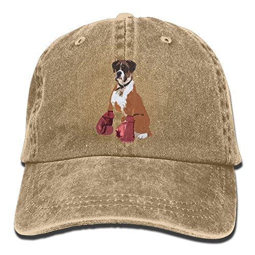 Boxer Dog Mens&womens Vintage Style Comfortable Sun Cap Baseball ()