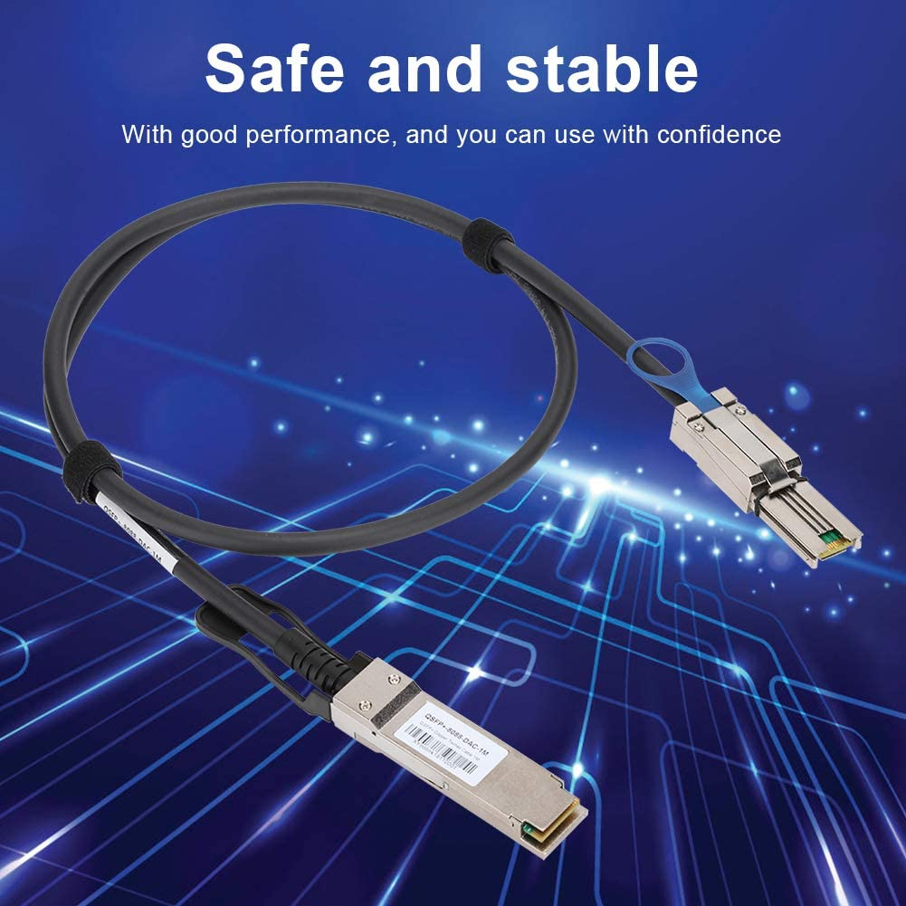 1 Meter ASHATA QSFP to 8088 DAC Cable SFP-8PX 28AWG 40Gbps for Cisco//for Huawei//for H3C//for TP-Link//for ZTE//for RIGOAL