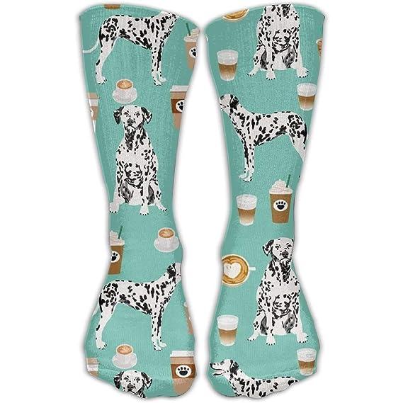 Pads bag Dálmatas lindo menta café mejor dálmata perro impresión moda caliente invierno calcetines de algodón