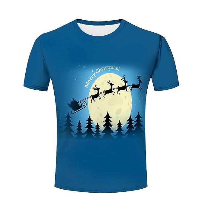 unisex 3d printed christmas santa snowflake pattern men summer short sleeve t shirts s